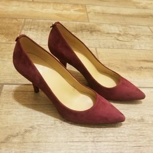 Michael Kors NEW Leather Burgandy Red MK pump